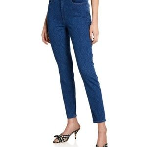JEN 7 BY 7 FOR ALL MANKIND PRINTED SKINNY JEANS